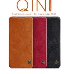 کیف چرم شیائومی Nillkin Qin Xiaomi Mi 11 Lite