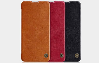 کیف چرم نیلکین محافظ سامسونگ Nillkin Qin Case Samsung A41